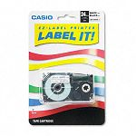 Tape Cassette for KL8000KL8100KL8200 Label Makers 24mm x 26ft Black on White (CSOXR24WE)