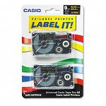 Tape Cassettes for KL Label Makers 9mm x 26ft Gold on Black Pack of 2 (CSOXR9BKG2S)