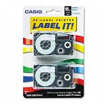 Tape Cassettes for KL Label Makers 18mm x 26ft Blue on White Pack of 2 (CSOXR18WEB2S)