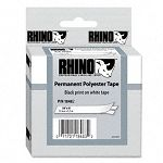 Rhino Permanent Poly Industrial Label Tape Cassette 38in x 18ft White (DYM18482)