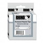 Rhino Permanent Poly Industrial Label Tape Cassette 34in x 18ft White (DYM18484)