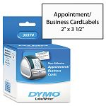 "BusinessAppointment Cards 2"" x 3 12"" White Box of 300 (DYM30374)"