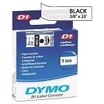 D1 Standard Tape Cartridge for Dymo Label Makers 38in x 23ft Black on Clear (DYM40910)