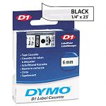 D1 Standard Tape Cartridge for Dymo Label Makers 14in x 23ft Black on Clear (DYM43610)