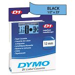 D1 Standard Tape Cartridge for Dymo Label Makers 12in x 23ft Black on Blue (DYM45016)