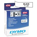 D1 Standard Tape Cartridge for Dymo Label Makers 1in x 23ft Black on White (DYM53713)