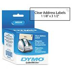 "Address Labels 1-18"" x 3-12"" Clear Box of 130 (DYM30254)"