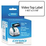 "VHS Top Labels 1-45"" x 3-110"" White Box of 150 (DYM30326)"