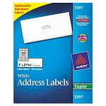 "Self-Adhesive Address Labels for Copiers 1"" x 2-1316"" White 3300Box (AVE5351)"