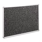 "Recycled Rubber-Tak Tackboard 36"" x 24"" Black with Aluminum Frame (BLTBRT12300)"