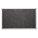 "Recycled Rubber-Tak Tackboard 72"" x 48"" Black with Aluminum Frame (BLTBRT13001)"