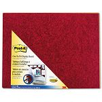 "Self-Stick Cut-to-Fit Unframed Bulletin Board 23"" x 18"" Burgundy (MMM558BY)"