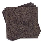 "Cork Panel Bulletin Board Natural Cork 12"" x 12"" 4 PanelsPack (QRT101)"