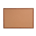 "Cork Bulletin Board 24"" x 18"" Oak Frame (QRT85212)"