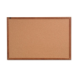 "Cork Bulletin Board 36"" x 24"" Oak Frame (QRT85223)"