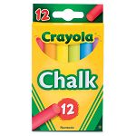 Chalk Assorted Colors 12 SticksBox (CYO510816)