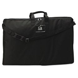 "Tabletop Display Carrying Case Canvas 18-12""w x 2-34""d x 30""h Black (QRT156366)"