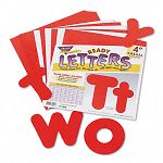 "Ready Letters Casual Combo Set Red 4""h Set of 182 (TEPT79902)"