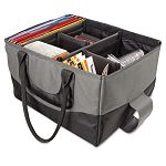 "File Tote Bag 600-Denier Nylon 14 x 17 x 10-12"" GrayBlack (AUE14000)"