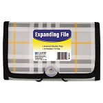 "Expanding File Plaid Coupon 13 pockets 1.5"" Exp. 1EA (CLI58412)"