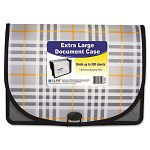 "Expanding File Plaid Letter 13 Pockets 3.5"" Exp. 1EA (CLI58512)"