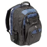 "17"" Laptop Backpack File Compartment Audio Player Sleeve BlackBlue (TRGTXL617)"
