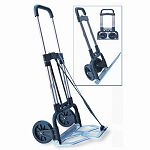 "Portable Slide-Flat Cart 275lbs 18 34"" x 19"" x 40"" BlackChrome (STB390009CHR)"