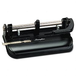 "32-Sheet Lever Handle Two- to Seven-Hole Punch 932"" Diameter Holes Black (SWI74350)"