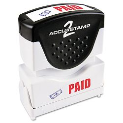 "Accustamp2 Shutter Stamp with Microban RedBlue PAID 1 58"" x 12"" (COS035535)"