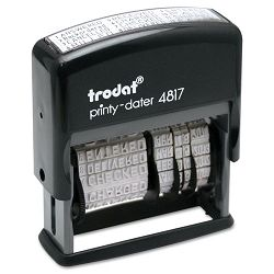 "Trodat Economy 12-Message Stamp Dater Self-Inking 2 x 38"" Black (USSE4817)"