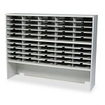 "Kwik-File Mailflow-To-Go 2 Tier Sorter with Riser 50 Pockets 60""w x 13-14""d x 46-14""h (MLNSR6046RPG)"