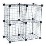 "Wire Cube Shelving System 14""w x 14""d x 14""h Black (SAF5279BL)"