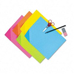 "Colorwave Super Bright Tagboard 12"" x 18"" Assorted Colors 100 SheetsPack (PAC1712)"