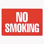 "Two-Sided Signs No SmokingNo Fumar 8"" x 12"" Red (COS098068)"