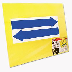 "Stake Sign Blank Yellow Includes Directional Arrows 15"" x 19"" (COS098227)"