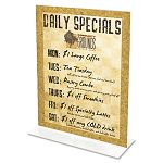 "Stand-Up Double-Sided Sign Holder Plastic 8-12"" x 11"" Clear (DEF69201)"