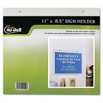 "Clear Plastic Sign Holder Wall Mount 8 12"" x 11"" (NUD38008Z)"