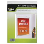 "Clear Plastic Sign Holder Wall Mount 8 12"" x 11"" (NUD38011Z)"