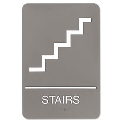 "ADA Sign 6"" x 9"" Stairs Gray (USS5401)"