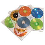 Two-Sided CD Storage Sleeves for Ring Binder Pack of 25 (CLGCDP200)