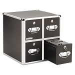 Four-Drawer CD File Cabinet Holds 660 Folders240 Slim120 Standard Cases (IDEVZ01049)