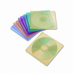 Slim CD Case Assorted Colors Pack of 10 (IVR81910)