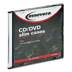 CDDVD Polystyrene Thin Line Storage Case Clear Pack of 50 (IVR85826)