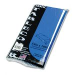"Table Set Rectangular Table Cover Heavyweight Plastic 54"" x 108"" Blue Pack of 6 (TBL549BL)"