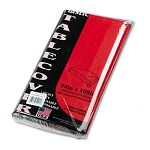 "Table Set Rectangular Table Cover Heavyweight Plastic 54"" x 108"" Red Pack of 6 (TBL549RD)"