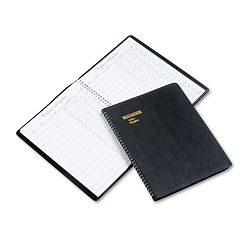 "Recycled Visitor Register Book Black 8 12"" x 11 (AAG8058005)"