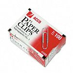 Smooth Economy Paper Clip Steel Wire No. 3 Silver Box of 100 10 BoxesPack (ACC72320)