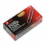 Smooth Finish Premium Paper Clips Wire Jumbo Silver Box of 100 10 BoxesPack (ACC72500)