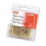 "Paper Clips Wire No. 2 1-18"" Gold Tone Box of 100 (ACC72533)"