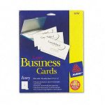 "Laser Business Cards 2"" x 3 12"" Ivory 10 CardsSheet Pack of 250 (AVE5376)"